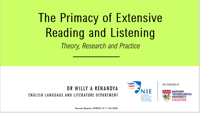 The Primacy of Extensive Reading and Listening