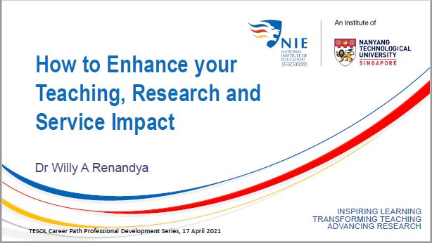 How to enhance your teaching, research and service impact