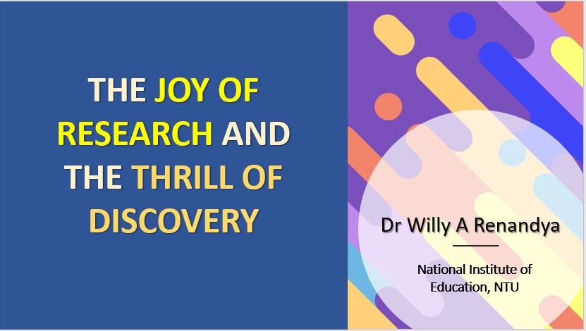 The Joy of Research and the Thrill of Discovery